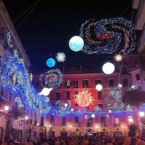 Salerno luminarie natale galassia