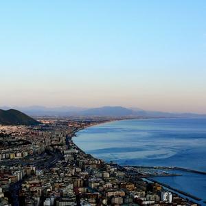 Salerno tramonto panorama